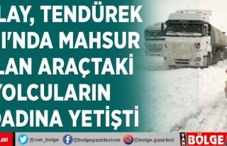 Kızılay, Tendürek Dağı'nda mahsur kalan...