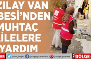 Kızılay Van Şubesi'nden muhtaç ailelere yardım