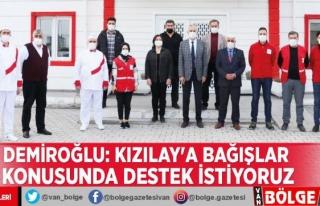 Demiroğlu: Kızılay'a bağışlar konusunda...