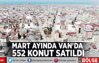Mart ayında Van'da 552 konut satıldı