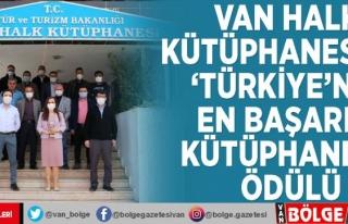 Van Halk Kütüphanesi'ne 'Türkiye'nin...