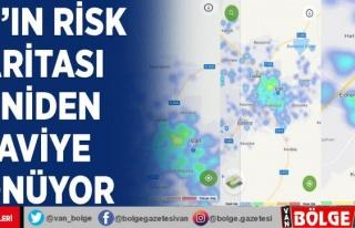 Van'ın risk haritası yeniden maviye dönüyor