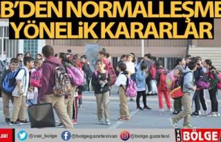 Milli Eğitim Bakanlığı kademeli normalleşmeye...