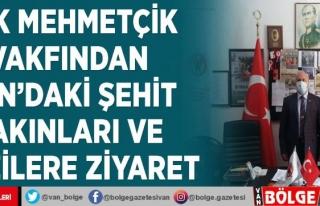 TSK Mehmetçik Vakfından Van'daki şehit yakınları...
