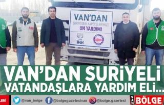 Van'dan Suriyeli vatandaşlara yardım eli…