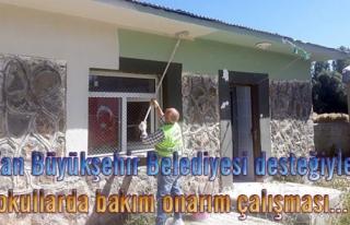 Van'daki okullarda bakım-onarım çalışması…