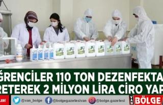 Erciş'teki öğrenciler 110 ton dezenfektan...