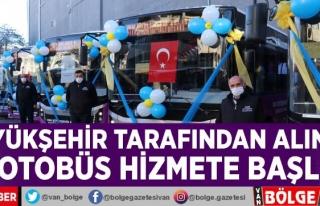 Büyükşehir tarafından alınan 22 otobüs hizmete...