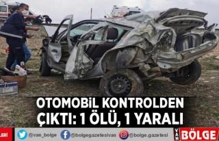 Otomobil kontrolden çıktı: 1 ölü, 1 yaralı