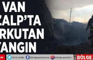 Van Özalp'ta korkutan yangın