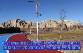 Kültür Parkı'ndaki bisiklet ve yürüyüş...