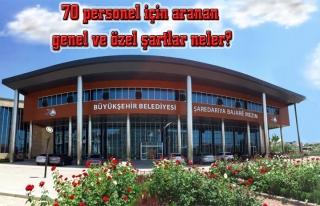 Büyükşehir, 65 şoför, 5 operatör alacak