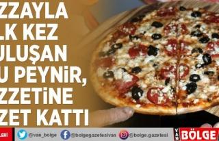 Pizzayla ilk kez buluşan otlu peynir, lezzetine lezzet...