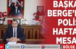 Başkan Berge'den Polis Haftası mesajı