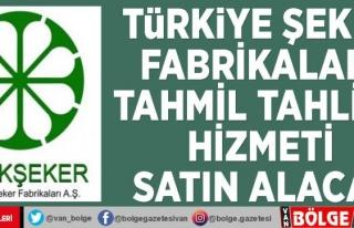 Türkiye Şeker Fabrikaları tahmil tahliye hizmeti...