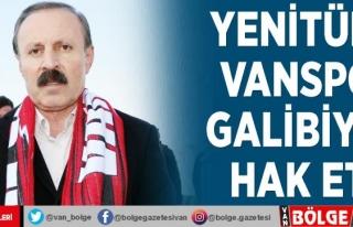Yenitürk: Vanspor galibiyeti hak etti