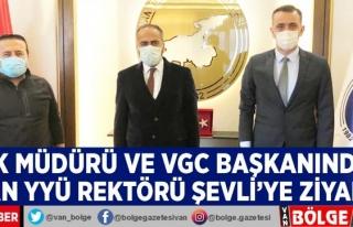 BİK Müdürü ve VGC Başkanından Rektör Şevli'ye...