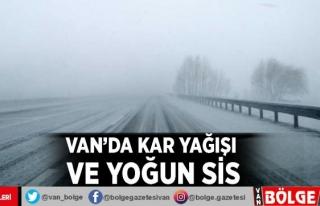Van'da kar yağışı ve yoğun sis