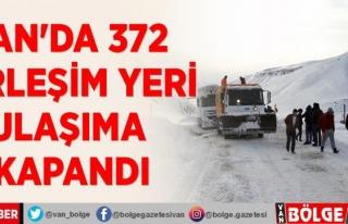 Van'da 372 yerleşim yeri ulaşıma kapandı