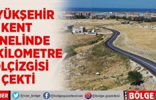 Büyükşehir kent genelinde 868 kilometre yol çizgisi...
