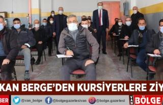 Başkan Berge'den kursiyerlere ziyaret
