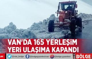 Van'da 165 yerleşim yeri ulaşıma kapandı