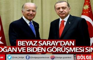 Beyaz Saray'dan Erdoğan ve Biden görüşmesi...