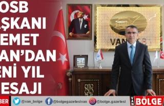 OSB Başkanı Memet Aslan'dan yeni yıl mesajı