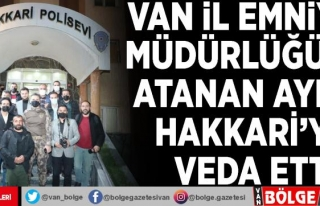 Van İl Emniyet Müdürlüğü'ne atanan Aydın...