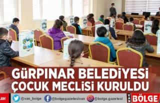 Gürpınar Belediyesi Çocuk Meclisi kuruldu