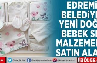 Edremit Belediyesi yeni doğan bebek seti malzemeleri...