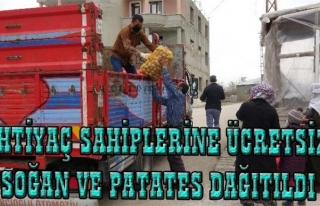 Van'da ihtiyaç sahiplerine patates ve soğan dağıtımı...