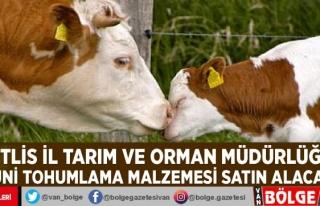 Bitlis İl Tarım ve Orman Müdürlüğü suni tohumlama...