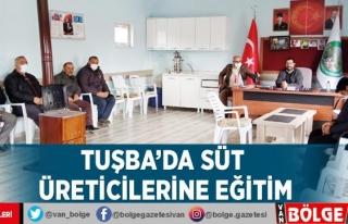 Tuşba'da süt üreticilerine eğitim