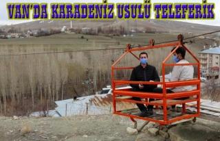 Van Kurubaş'ta teleferik sistemi...