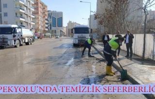 İpekyolu Belediyesi'nden cadde ve sokaklarda temizlik...