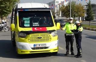 Van Polisi, toplu taşıma araçlarında denetimlerini...
