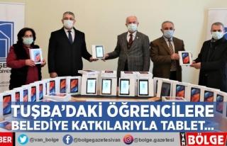 Tuşba'daki öğrencilere belediye katkılarıyla...