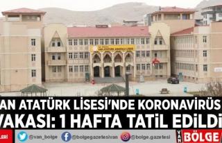 Van Atatürk Lisesi'nde koronavirüs vakası:...