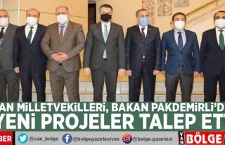 Van milletvekilleri, Tarım ve Orman Bakanı Pakdemirli'den...