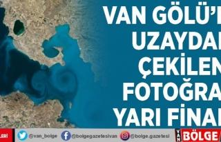 Van Gölü'nün uzaydan çekilen fotoğrafı...
