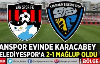 Vanspor evinde Karacabey Belediyespor'a 2-1 mağlup...