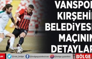 Vanspor- Kırşehir Belediyespor maçının detayları…