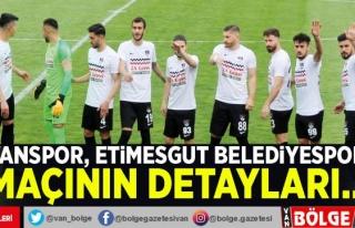 Vanspor, Etimesgut Belediyespor maçının detayları…