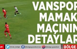 Vanspor- Mamak maçının detayları…