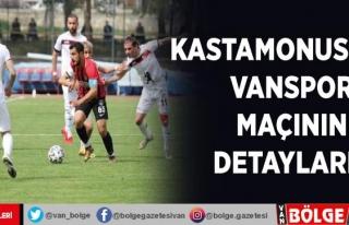 Kastamonuspor- Vanspor maçının detayları…