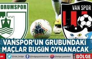 Vanspor'un grubundaki maçlar bugün oynanacak