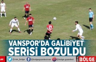 Vanspor'da galibiyet serisi bozuldu