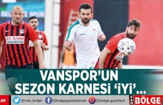 Vanspor'un sezon karnesi 'iyi'…