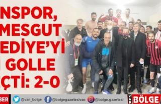 Vanspor, Etimesgut Belediye'yi iki golle geçti:...